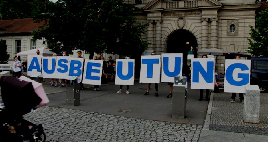 Solidaritätskundgebung Streik CFM Juli 2020 Berlin