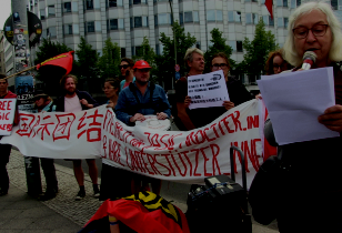 Protest vor der chinesischen Botschaft in Berlin